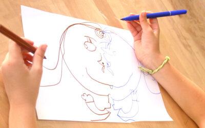 ציור בשתי ידיים · התעמלות למוח
