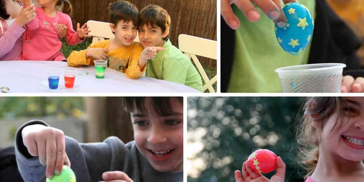 הדפסה על ביצים · יצירה צבעונית