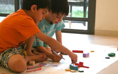 ציור ארוך עם קוביות · פעילות מגבשת לילדים