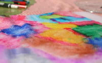 טושים מטושטשים · יצירה קלה ומהנה